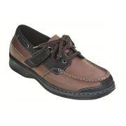 OrthoFeet Men's Baton Rouge Diabetic Shoes - Brown/Black