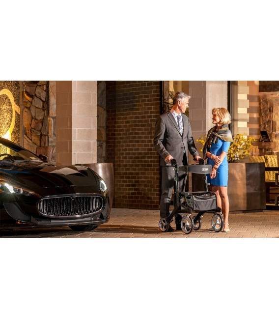 Nitro Elite CF, Carbon Fiber Walker Rollator Black -Drive