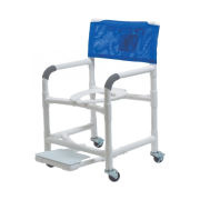 "Lumex 26"" PVC Bariatric Shower Commode Chair with Sliding Footrest 89251 by Graham Field"