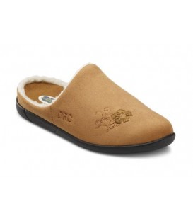 Dr. Comfort Women's Cozy Diabetic Slippers - Camel