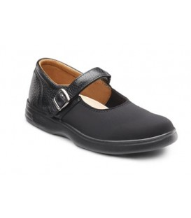 Dr. Comfort Women's Merry Jane Diabetic Shoes - Black Lycra