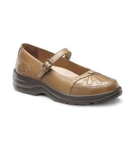 Dr. Comfort Women's Paradise Diabetic Shoes - Saddle Tan