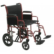 "Drive HD 20""-22"" Bariatric Transport Wheelchair with Swing Away Footrests"