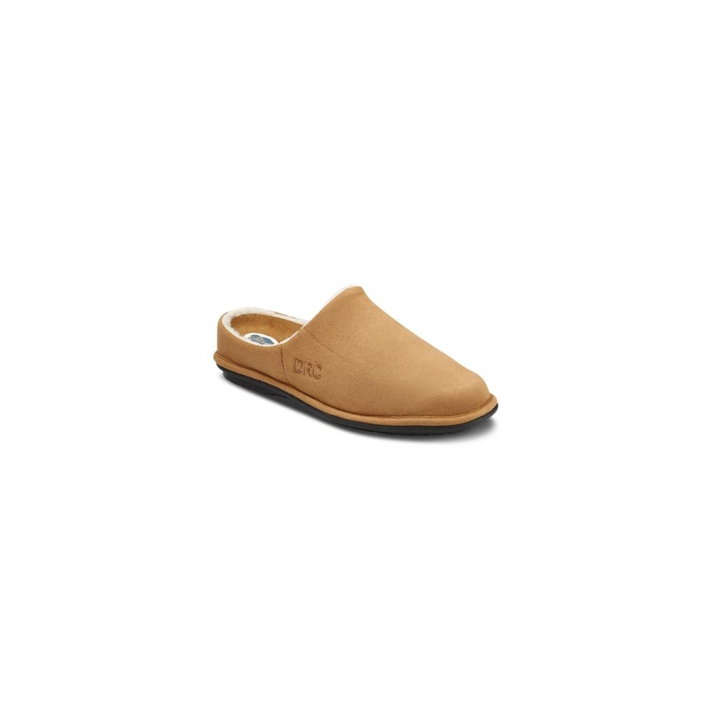Dr Comfort Men S Easy Diabetic Slippers Camel