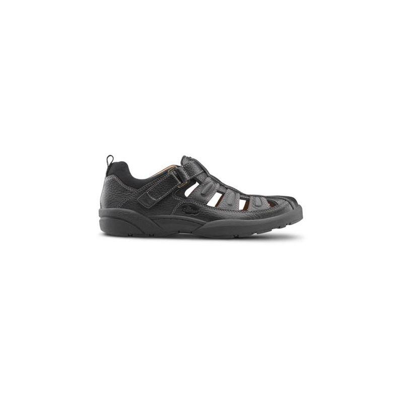 e95a648a125 Dr. Comfort Men's Fisherman Diabetic Sandals - Black - American ...