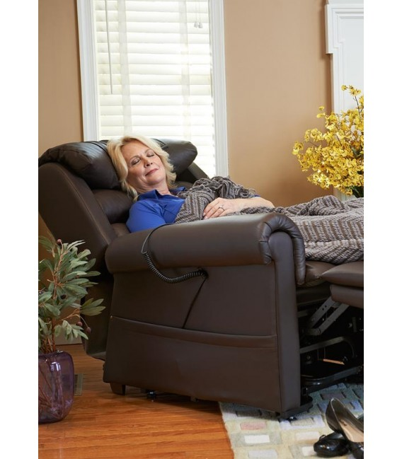 Brisa Coffee Bean Golden PR-756 Relaxer Medium or Large Zero Gravity Infinite Maxicomfort Lift Chair