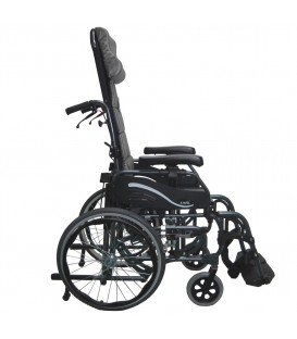 Karman VIP-515-MS Light Foldable Tilt-in-Space Wheelchair 33 lbs