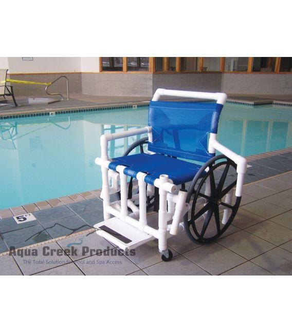 """Aqua Creek Pool Access Chair 24"""" Mesh- 350 lb. Wt. Cap."""