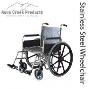 "Aqua Creek Folding Pool Access Chair 18"" - Holds 350 lbs - F-18SSWC"