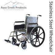 "Aqua Creek Folding Pool Access Chair 20"" - Holds 350 lbs - F-20SSWC"