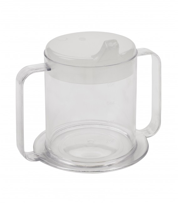 Clear 2 Handle Cup with Cover
