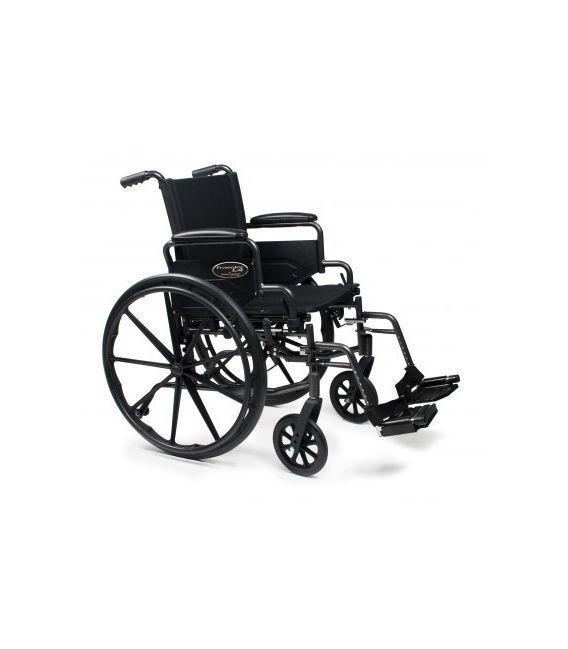 3F020170 - Wheelchair 18X16 Adjustable Height Desk Arm, Elevating Legrest, Quick Release Wheels
