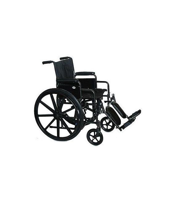 3F020270 - Wheelchair 16X16 Adjustable Height Desk Arm, Elevating Legrest, Quick Release Wheels
