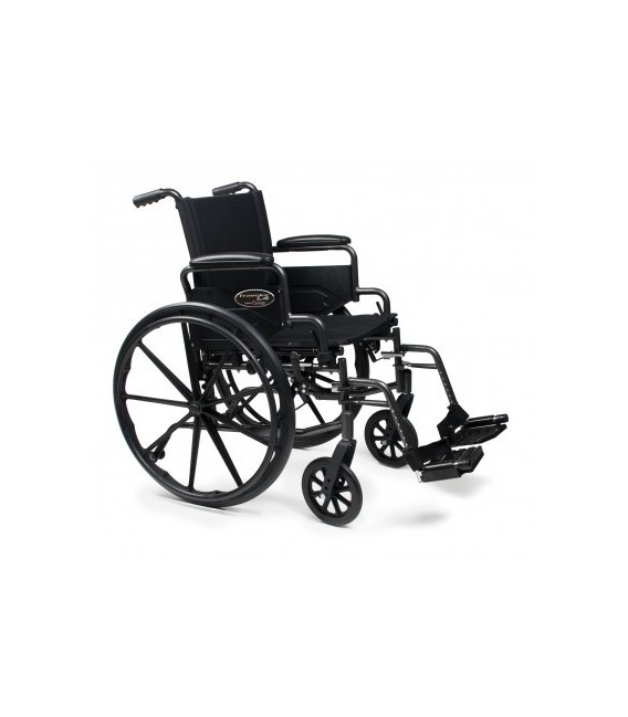 3F020360 - Wheelchair 20X16 Adjustable Height Desk Arm, Swingaway Footrest, Quick Release Wheels
