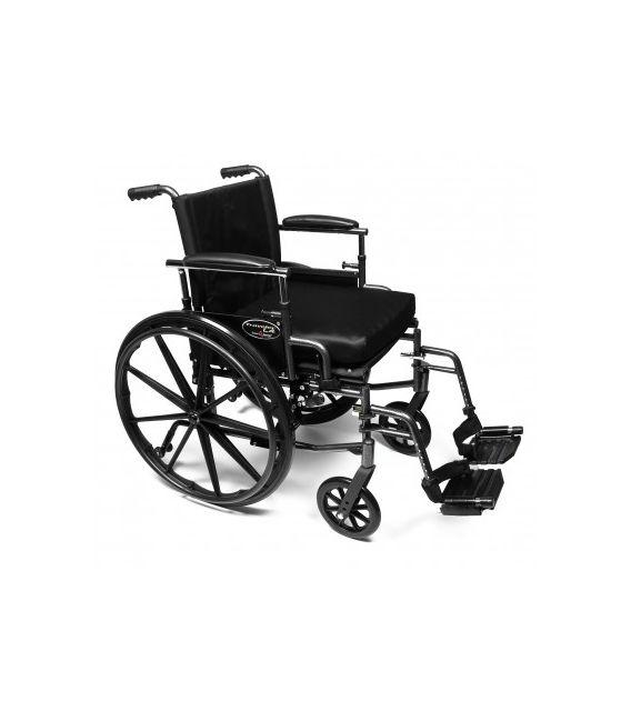 "3F030360 - 20"" x 18"", Flip Back Desk Arm, Height Adjustable Arm, Swingaway Footrest, Quick Release Wheels"