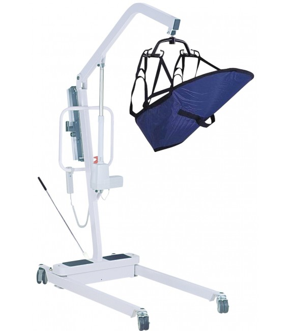 Electric Patient Lift with Rechargeable Battery 6 Pt Cradle by Drive