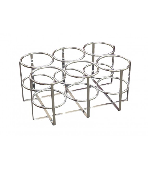 "Chrome Oxygen Cylinder Rack -Holds 6 (15.6"" X 10.2"" X 9.3"")"