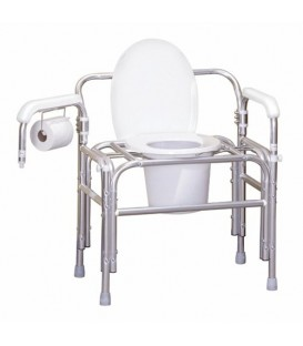 Bariatric Bed Side Commode Chair, Swing Out Arm by Gendron model 5153