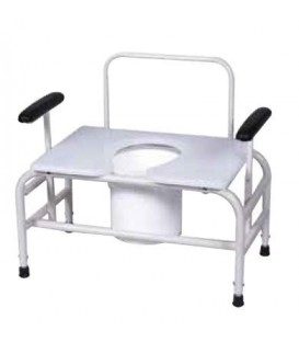 Gendron 5233-26 Height Adjustable Bariatric Commode - 26""