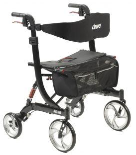 Drive Nitro Heavy Duty Aluminum Euro Style 4 Wheel Walker Rollator