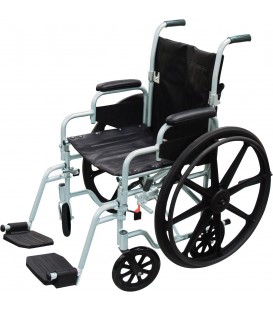 "Drive Poly Fly High Strength 18""-20"" Lightweight Combo Transport Wheelchair"