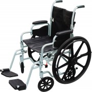 """Drive Poly Fly High Strength 18""""-20"""" Lightweight Combo Transport Wheelchair"""
