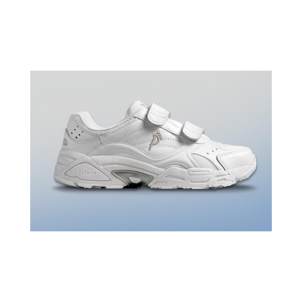 1628ace27e4 Ped-Lite Men s Austin Diabetic Shoes with Velcro - White - American ...