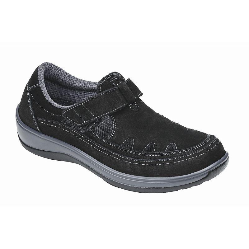 Orthofeet Women S Serene Diabetic Shoes Black 891