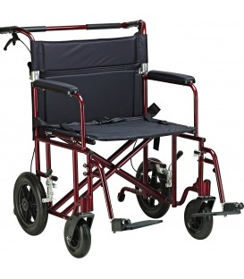 "Drive Aluminum 22"" Bariatric Transport Wheelchair"