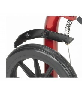 Drive Aluminum 4 Wheel Rollator with Foldable Backrest