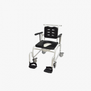 Aqua NT600 Rehab Shower Bariatric Commode Chair 600 lbs Stainless Steel - 112C19-Future Mobility