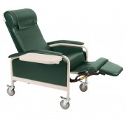 CareCliner Standard Size Reclining Geri Chair (Steel or Nylon Casters)  Trendelenburg 6531 or 6530 - 275 lbs -Winco