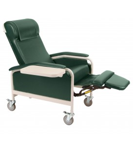 XL CareCliner Bariatric Reclining Geri Chair (Steel or Nylon Casters) Trendelenburg 6541 or 6540 - 450 lbs -Winco