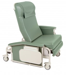Drop Arm XL CareCliner Bariatric Reclining Geri Chair (Steel or Nylon Casters) Trendelenburg 6571 or 6570 - 450 lbs -Winco