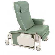 Drop Arm XL CareCliner Bariatric Reclining Geri Chair (Steel or Nylon Casters) Trendelenburg 6571 or 6570 - 450 lbs -Winco