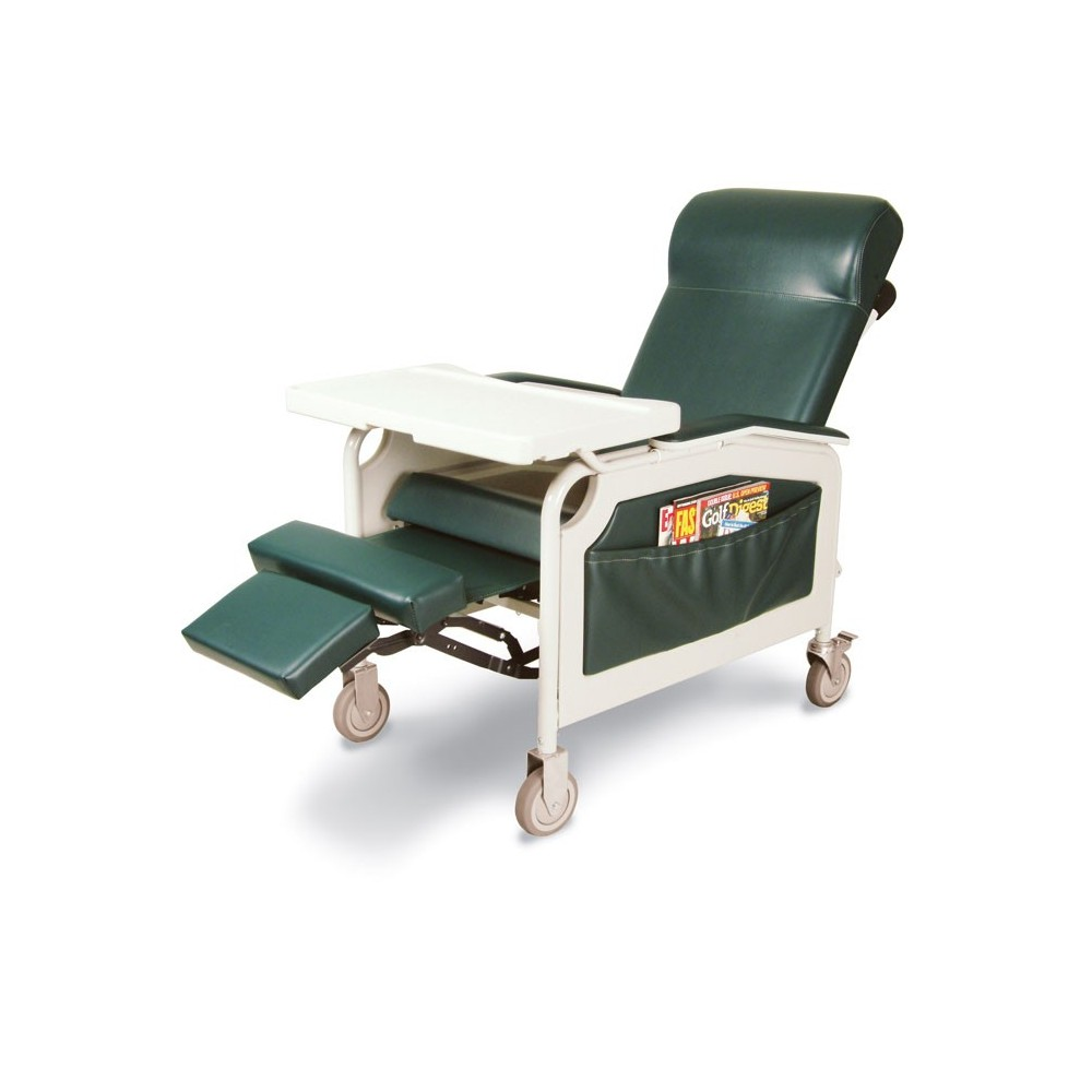 Convalescent Recliner With Tray Geri Chair 3 Positions