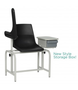Basic Blood-Drawing Chair Plastic Seat with Drawer 2570 - Winco
