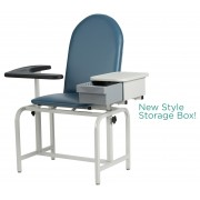 Basic Blood-Drawing Chair Padded Vinyl with Drawer 2572 - Winco