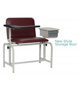 XL Basic Blood-Drawing Chair Padded Vinyl with Drawer 2574 - Winco