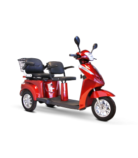 E-Wheels EW-66 2 Passenger 3-Wheel Bariatric Scooter 600 lbs