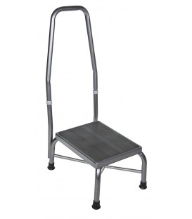 Bariatric Footstool with Handrail with Non Skid Rubber Platform