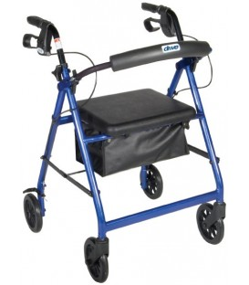 """Aluminum Rollator with 6"""" Casters by Drive Medical"""