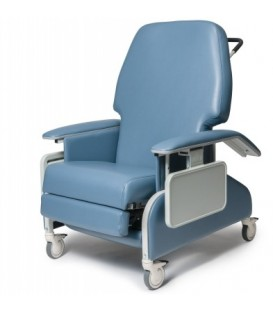 Lumex FR587WD Bariatric Geri Chair / Wide Clinical Care Recliner with Drop Arms