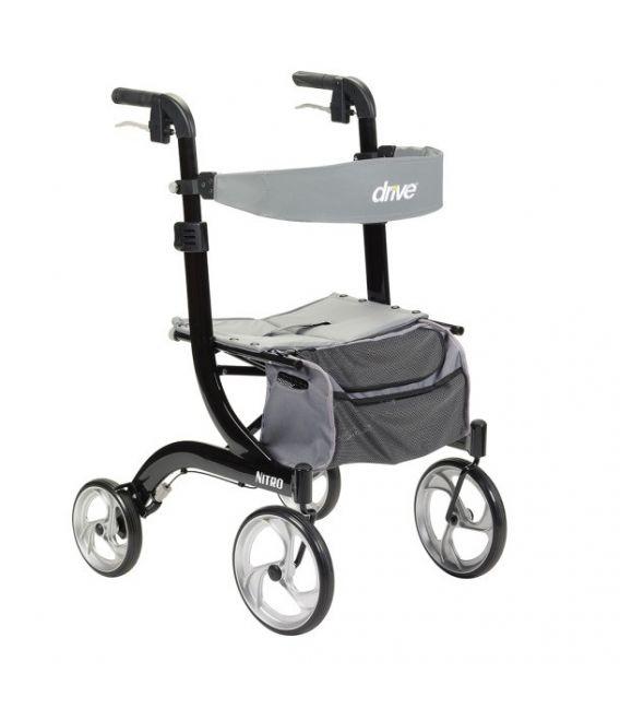 Nitro Euro-Style Aluminum 4 Wheel Walker Rollator by Drive Medical