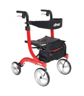 Nitro Euro-Style Aluminum 4 Wheel Walker Rollator by Drive Medical