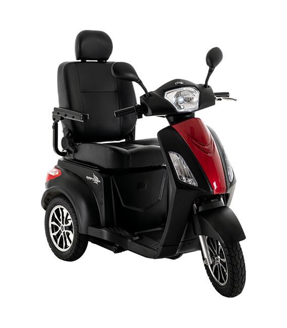 Pride Raptor 3-Wheel Scooter Black and Candy Apple Red