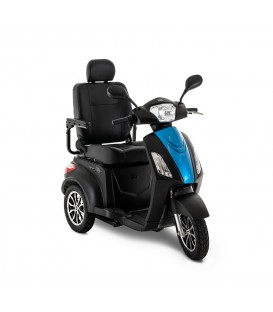 Pride Raptor 3-Wheel Scooter Black and True Blue