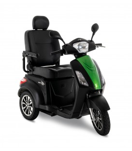 Pride Raptor 3-Wheel Scooter Black and Green Machine