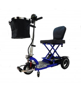 TRIAXE Cruze T3055 Folding Travel Scooter with Deluxe Basket by Enhance Mobility