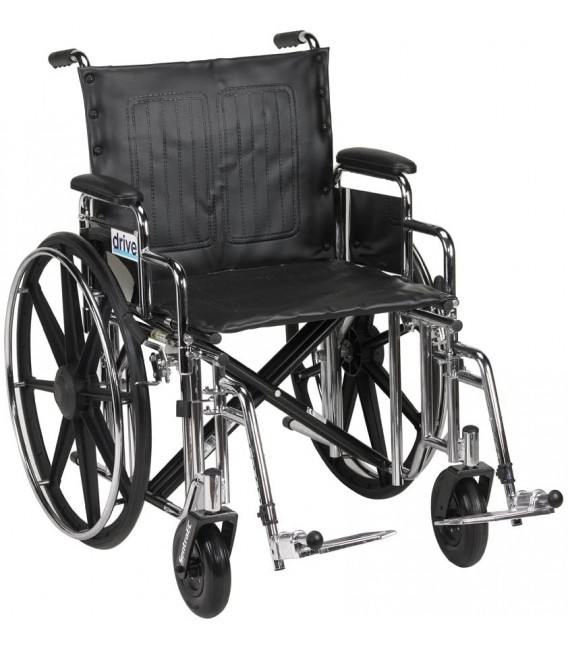 """Sentra Extra HD 20""""-24"""" Bariatric Wheelchairs by Drive"""